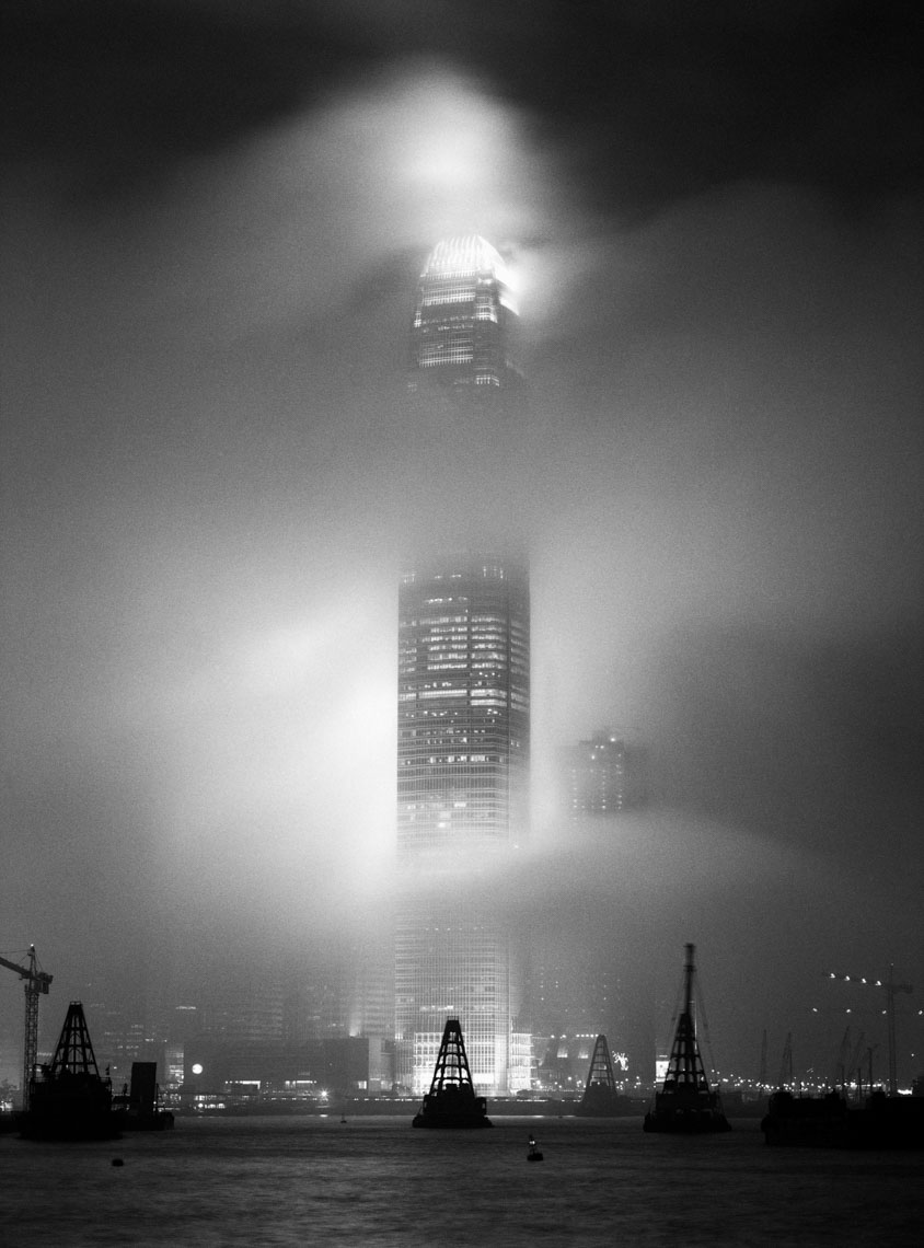 IFC, Mist, Monsoon, Hong Kong