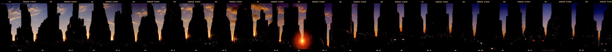 Manhattan Sunset, Manhattanhenge, Manhattan Henge, 1999